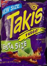 NEW BARCEL TAKIS FUEGO FIESTA SIZE HOT CHILI PEPPER LIME TORTILLA CHIPS 20 OZBAG