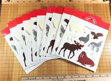 10 sheets Mrs Grossmans Arctic Animals Stickers Wolf Eagle Walrus Moose Polar