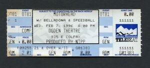1996 Motorhead Belladonna Unused Concert Ticket Denver CO Sacrifice Tour