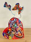 "Pop art Metal ""Open heart "" sculpture by DAVID GERSTEIN"