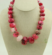 N14091123 big red faced agate necklace 19""