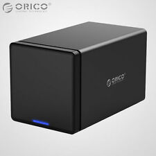 ORICO 4Bay 3.5 Inch SATA USB 3.0 Hard Drive HDD Enclosure Raid 0/1/Combine/Clear