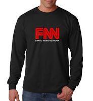 Long Sleeve #2 FNN Fraud News Network T Shirt Patriotic Trump Republican Fake