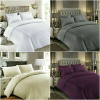 SATIN STRIPE 400 THREAD COUNT DUVET COVER SET 100% EGYPTIAN COTTON BEDDING SETS