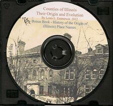 Illinois Counties - Their Origin and Evolution + bonus