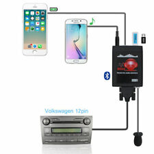 Car Aux+USB Adapter Bluetooth Stereo Radio Interface For VW AUDI 12 Pin Iphone