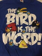 Angry Birds Classic The Bird Is The Word Short Sleeve T Shirt Men Size L