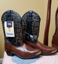 Masterson Leather Cowboy Boots 10 Vintage Heel Plate Country Brooks Shelton Opry