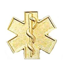 Star of Life Lapel Pin Gold Plated Cap Tac Military Clutch Medical EMT EMS New
