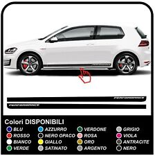 VW GOLF V-VII GTI Performance Strisce Laterali Set Adesivi 3 & 5 porte per golf