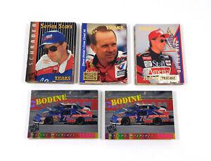 Lot of (5) Assorted 1995 Traks NASCAR Racing First Run Insert Sets