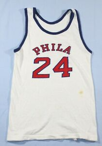 Rare Vintage 1966-67 NBA Philadelphia 76ers Sixers Boys Walli Jones Jersey #24