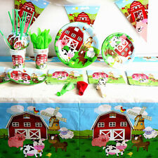 Farm Animal Birthday Party Supplies Party Jungle Birthday Disposable TablewaA7