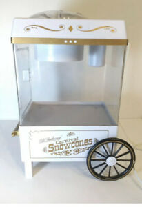 Vintage Snow Cone Shaved Ice Nostalgia Old Fashioned Carnival Snow Cone Maker