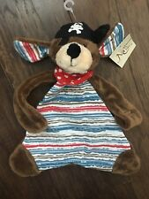 Maison Chic Patch The Pirate Dog Blankie lovey Puppy Blanket Boys NWT