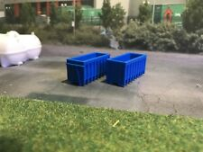 3d Printed Skip (Blue) Would Suit 1:148 Scale N Gauge 2 Pkt