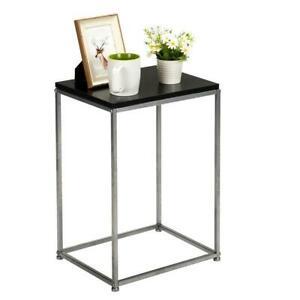 Tall End Table Coffee Stand Night Side Nightstand Home Accent Furniture Black