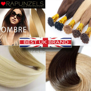 Micro ring pre bonded stick tip ombre remy human hair extensions Rapunzels UK ❤️
