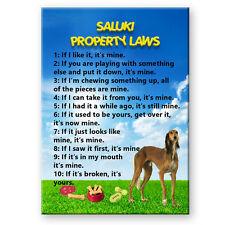 Saluki Property Laws Fridge Magnet New Dog Funny