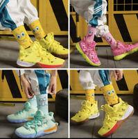 New Kyrie SpongeBob Collage Customized Socks Patrick Squidward Size 6-10