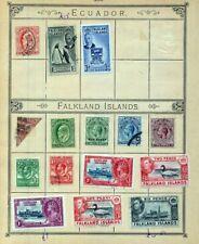 FALKLAND ISLANDS QV/GVI M&U (15 Items)(NT 3534