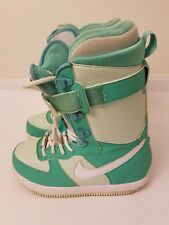 Nike Zoom Force 1 ZF-1 Women's Snowboard Boots Rare Teal Green Size 6.5 US
