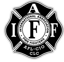 """4"""" IAFF Decal Black and White Exterior Mount READ AUCTION"""