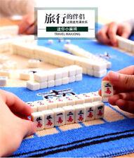 Mini Portable Retro Chinese Mahjong Jongg Majiang 144 Tiles W/ Mahjong Bag Gift