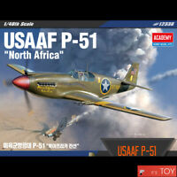 Academy 1/48 USAAF P-51 North Africa US Army Aircraft Plastic model kit #12338