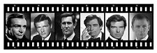 ALL JAMES BONDS HUGE 6 FEET CANVAS CONNERY LAZENBY MOORE DALTON BROSNAN CRAIG