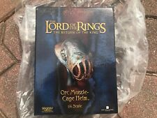 Sideshow Weta Lord Of The Rings Orc Muzzle Cage Helm 1/4 Scale Lotr 6/2500