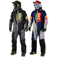 FXR Men's Recruit Lite Uninsulated Winter Monosuit Black & Hi-Vis or Blue & Red