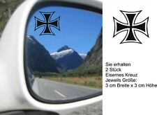 Autoaufkleber - 2 Stück Eisernes Kreuz- je Größe: 3cm Breite x 3cm Höhe. Art.958
