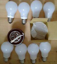 8 Low Energy Std Screw Bulbs + CSW Chrome Shower waste - 9w CFL E27 240V ES