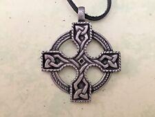 CELTIC NORSE IRISH PAGAN **KNOT CROSS PENDANT**+LEATHER CORD