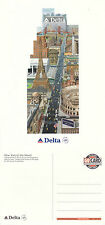 DELTA AIRLINES / DELTA SKYTEAM ADVERTISING UNUSED COLOUR POSTCARD