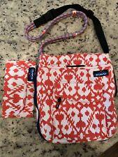 KAVU Red / White Crossbody Rope Bag Purse & Wallet