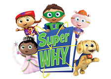 Super Why Iron On Transfer Light Fabrics 5 x 7 Size
