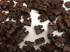 Lego - Nouveau Rougeâtre marron foncé court mini figurines jambes / 2 pièces