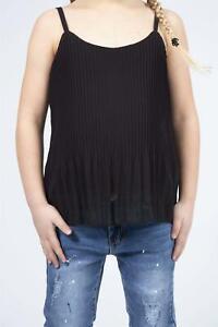 Kids Girls Ribbed Stylish Vest Top Summer Ruffle Fashion T Shirt New Age 1-16Yrs