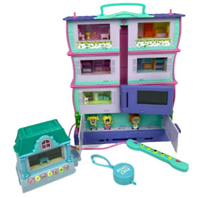 RARE Pixel Chix Mansion + 3 Rare Characters! + Extra House (Working) Mattel 2005