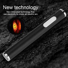 Ultra thin Electric Arc Flameless Lighter Plasma Windproof USB Recharge Lighter