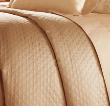 Sferra Twin BARI Bed Skirt Peachy Blush Egyptian Cotton Diamond Pique New