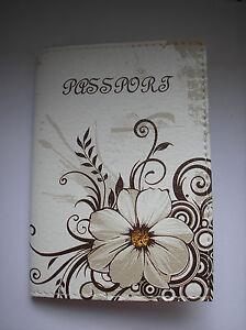 Women's PASSPORT Holder, Cover, Case, Travel Wallet - FLOWERS - Girls travel gif