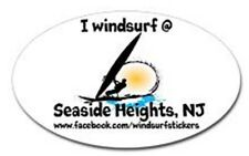 "I Windsurf @ Seaside Heights, Nj Bumper/Window Sticker Oval 3"" X 5"""