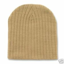 79709a4346e Tan Khaki Cable Beanie Knit Cap Skully Winter Stocking Hat Military Desert  Color