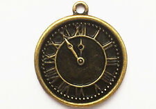 Steampunk Clock face charm Pack of 2, 24mm