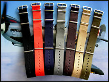 24mm NATO g10 Nylon watch band strap utc RAF Stitched Bonded IW SUISSE 18 20 22