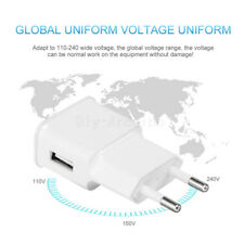 5V 2A White USB EU Plug Wall Charger Fast Charging Home Travel Adjustor Adaptor