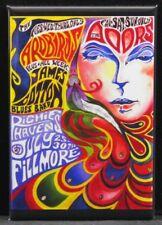 """The Doors / The Yardbirds Concert Poster 2"""" X 3"""" Fridge / Locker Magnet."""